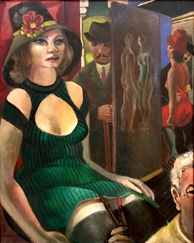 Pinacoteca Prostibulo e autorretrato 1968 óleo sobre tela Di Cavalcanti