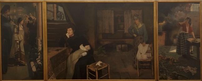 Triptico Pinacoteca Pedro weingärtner a fazedora de anjos 1908 óleo sobre tela